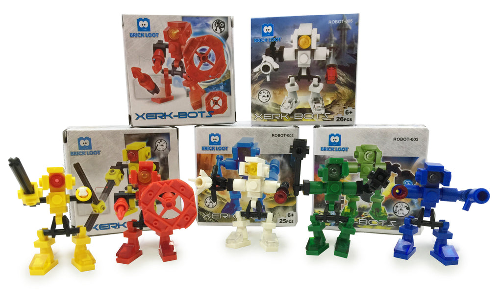 Brick-Loot-Robot-Brick-Sets-Included-In-Party-Favor-Head-Cases