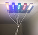 Brick Loot Light Kit for LEGO - 1x4 Brick Down Lights in White/White LED, Red/Red LED, Green/Green LED, Blue/Blue LED, Yellow/yellowish-tint LED; all USB-powered. Each sold separately OR as a 5-pack.