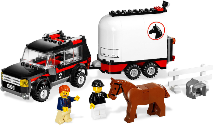 LEGO Farm: 4WD with Horse Trailer 7635 - CEO Parker's LEGO Collection - Used LEGO Complete