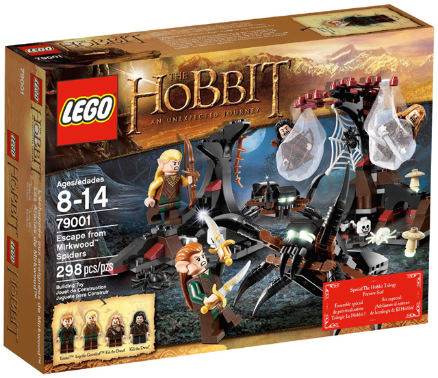 LEGO The Hobbit and the Lord of the Rings: Escape from Mirkwood Spiders set 79001