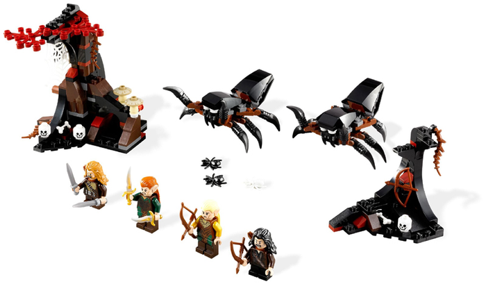 LEGO The Hobbit and the Lord of the Rings: Escape from Mirkwood Spiders 79001 - CEO Parker's LEGO Collection - Used LEGO Complete