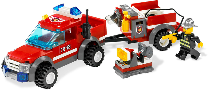 LEGO City Off Road Fire Rescue 7942 - CEO Parker's LEGO Collection - Used LEGO Complete