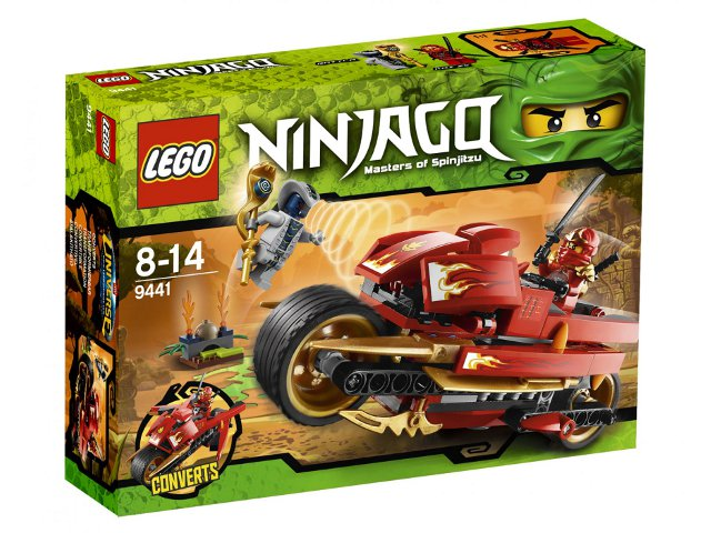 LEGO Ninjago: Rise of the Snakes: Kai's Blade Cycle set 9441
