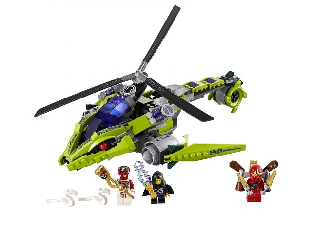 LEGO Ninjago: Rise of the Snakes: Rattlecopter 9443 - CEO Parker's LEGO Collection - Used LEGO Complete