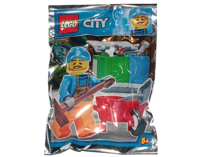 LEGO Polybag -  Town: City: Traffic: Garbage Man foil pack 951809