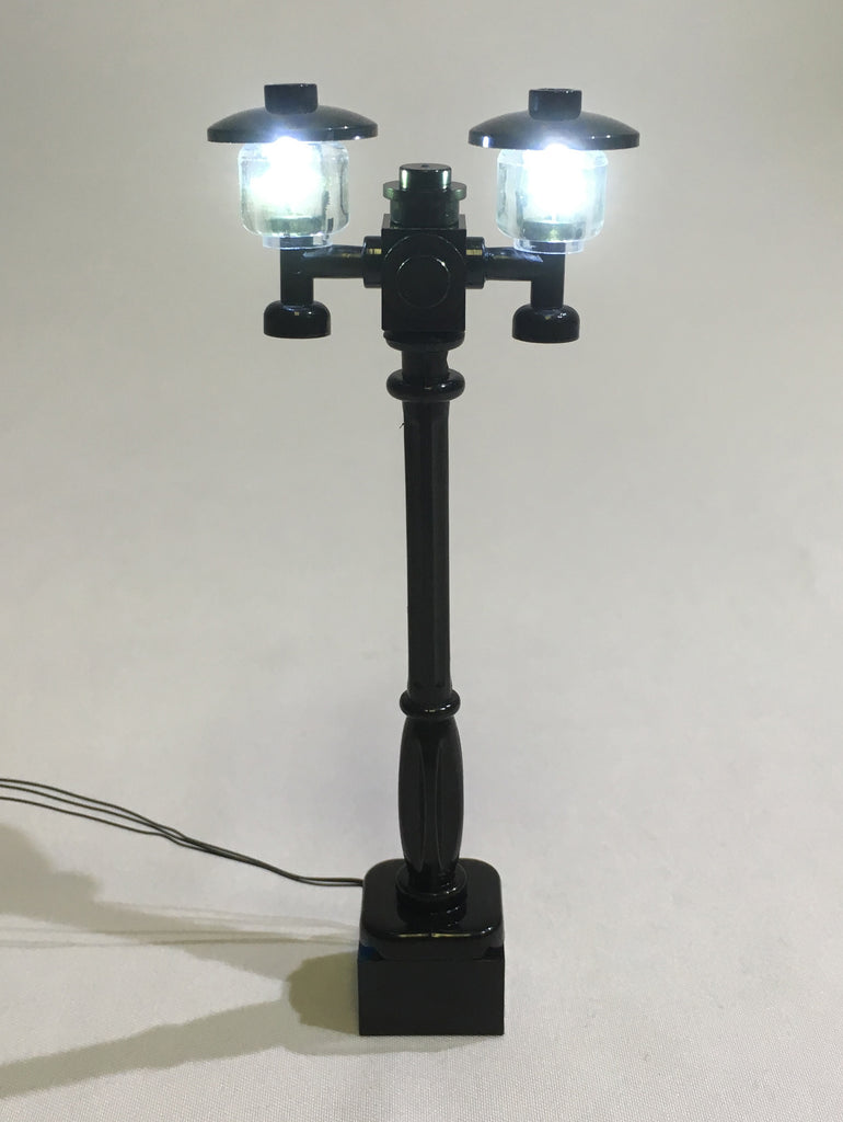 New 4 White Lamp Post led street light for lego usb connected 4 posts