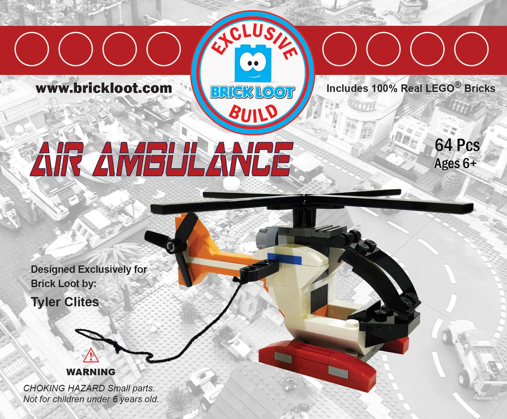 Exclusive Brick Loot Build Air Ambulance by Tyler Clites – 100% LEGO Bricks