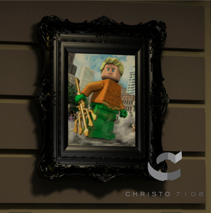 Christo Custom Fine Art Brick Painting  - Aquaman - LIMITED EDITION