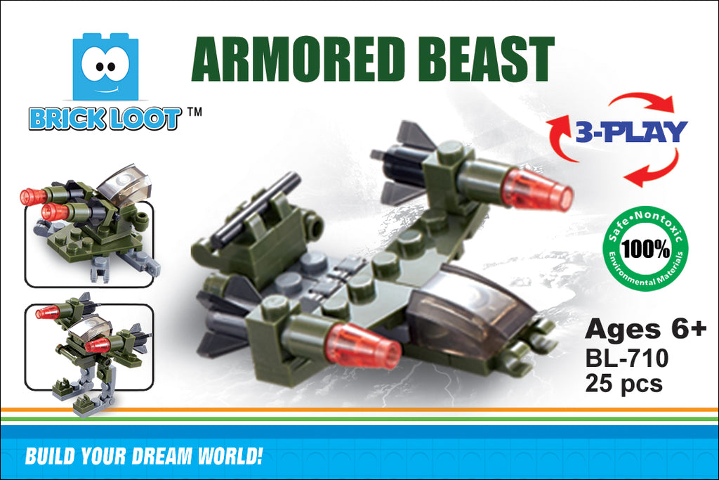 Brick-Loot-Exclusive-Armored-Beast-3-in-1-fighter-jet-bot-set-100%-LEGO®-Compatible