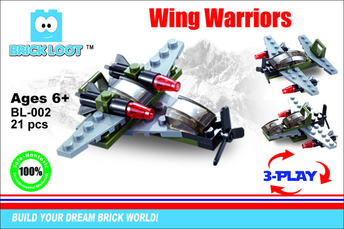 Brick-Loot-Exclusive-Wing-Warriors-jet-airplane-fighter-set-100%-LEGO®-Compatible