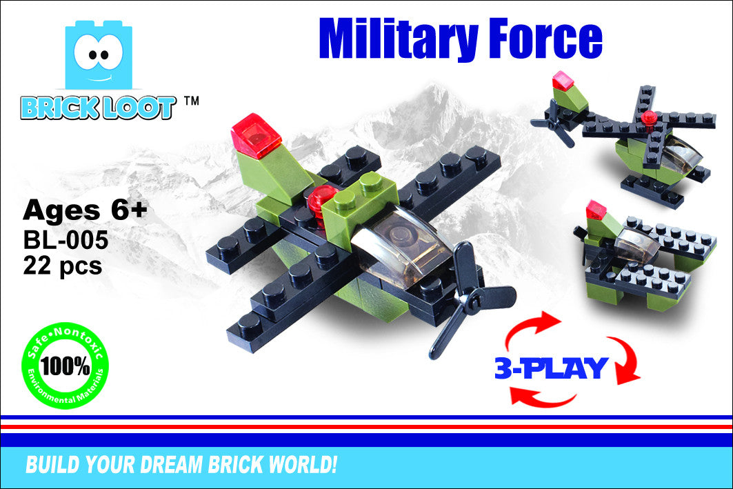 Exclusive Brick Loot MilItary Force BL-005 3-Play Set