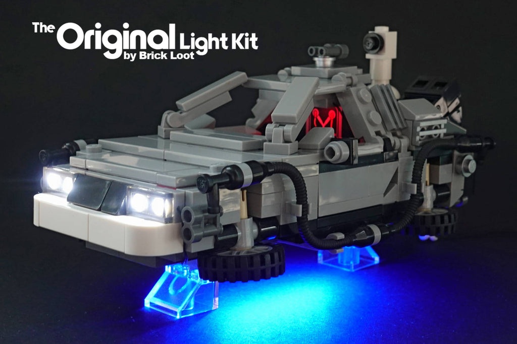 Custom LEGO Flux Capacitor with LED Light Kit by Brick Loot
