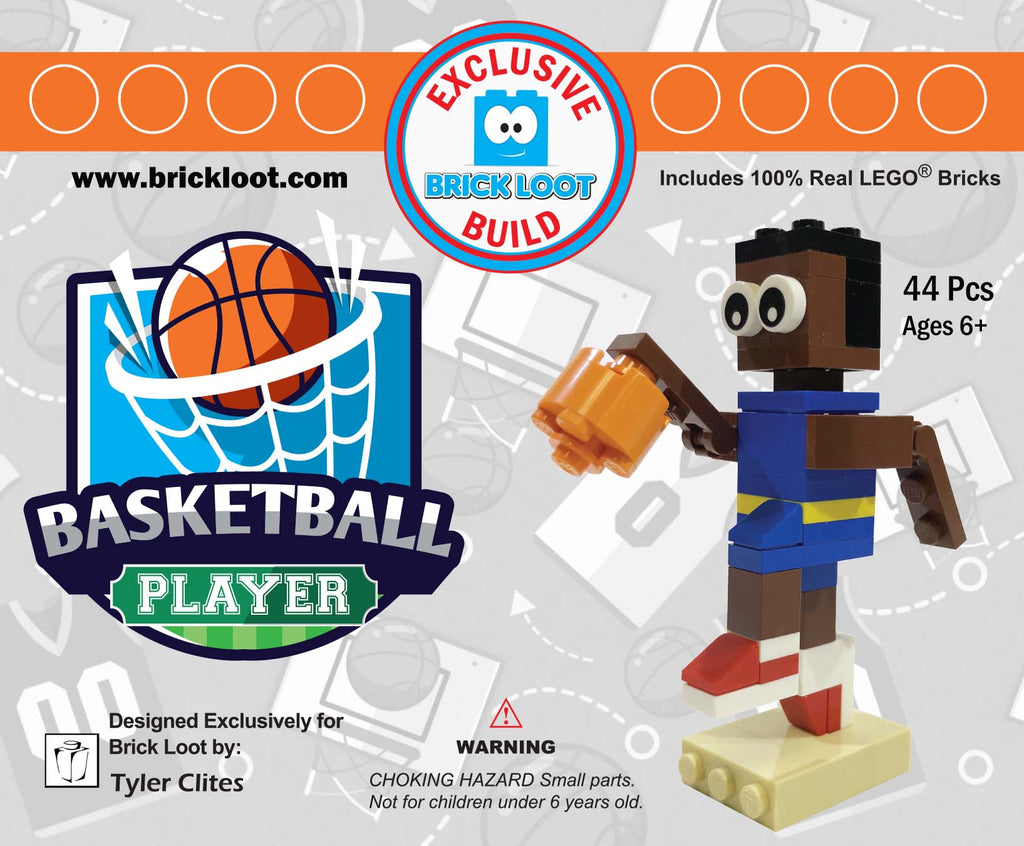 Exclusive Brick Loot Build Basketball Player by Tyler Clites – 100% LEGO Bricks