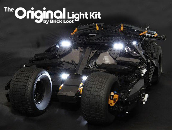 LEGO Batman Tumbler set 76023 with the Brick Loot LED Light Kit.
