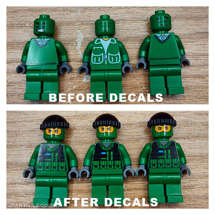 Brick-Loot-Exclusive-Minifigure-Sticker-Decal-Sheet-Modern-Military-Theme-Minifigures-Not-Included