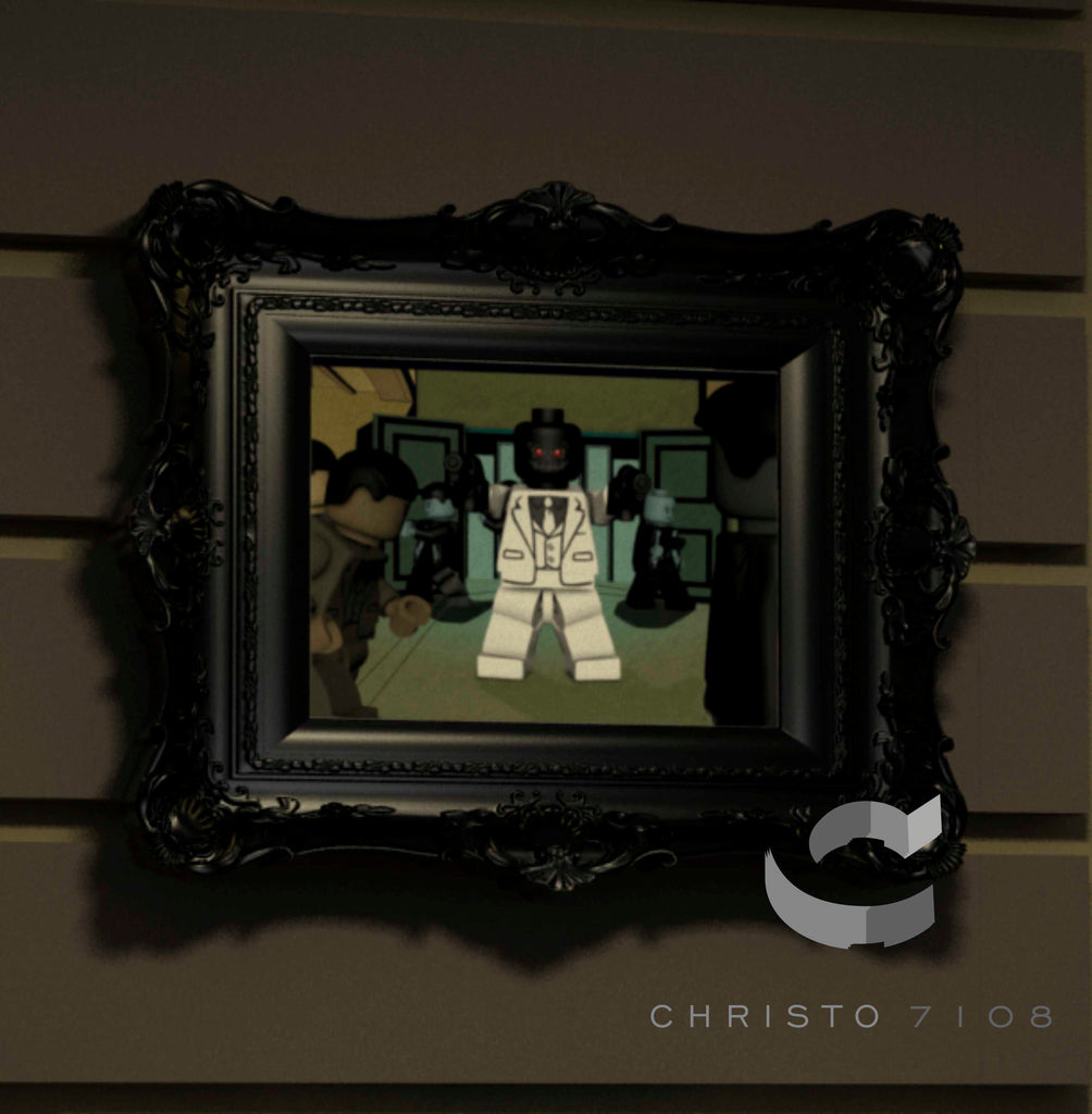 Christo Custom Fine Art Brick Painting  - Black Mask - LIMITED EDITION