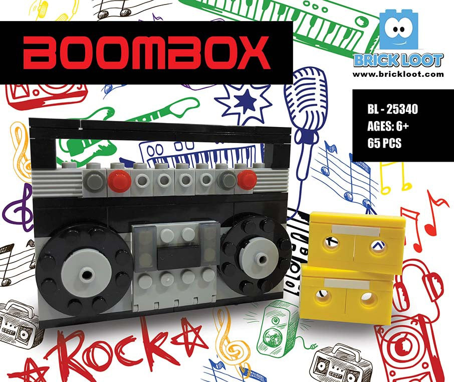 Brick-Loot-Boom-Box-100%-LEGO-Compatible-Bricks