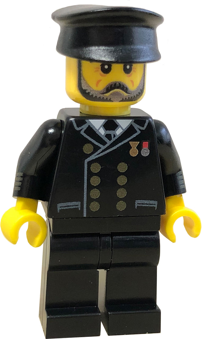 Brick Loot Exclusive Captain Titanic - I.C. Berg Custom LEGO® Minifigure LIMITED EDITION