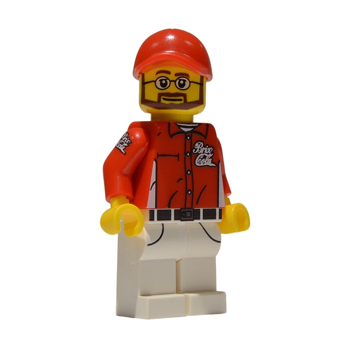 Brick Loot Exclusive Brix Cola Delivery Man Custom LEGO® Minifigure LIMITED EDITION