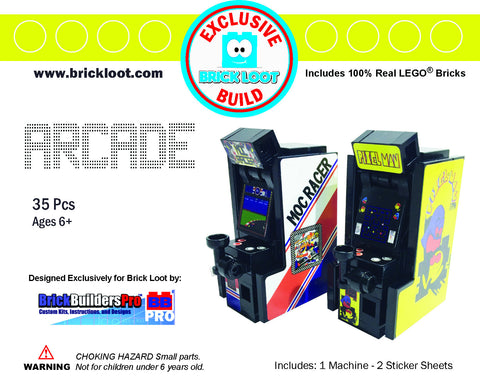 Exclusive Brick Loot Arcade by BrickBuildersPro - 100% LEGO