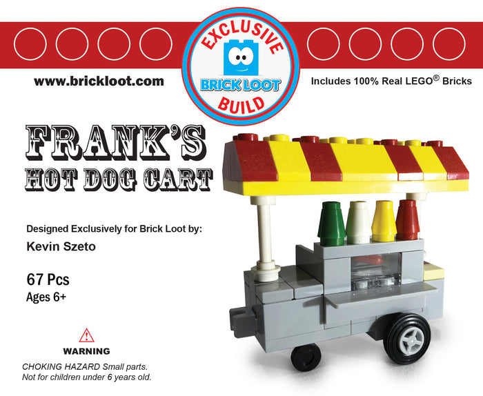 Exclusive Brick Loot Hot Dog Cart by Kevin Szeto - 100% LEGO