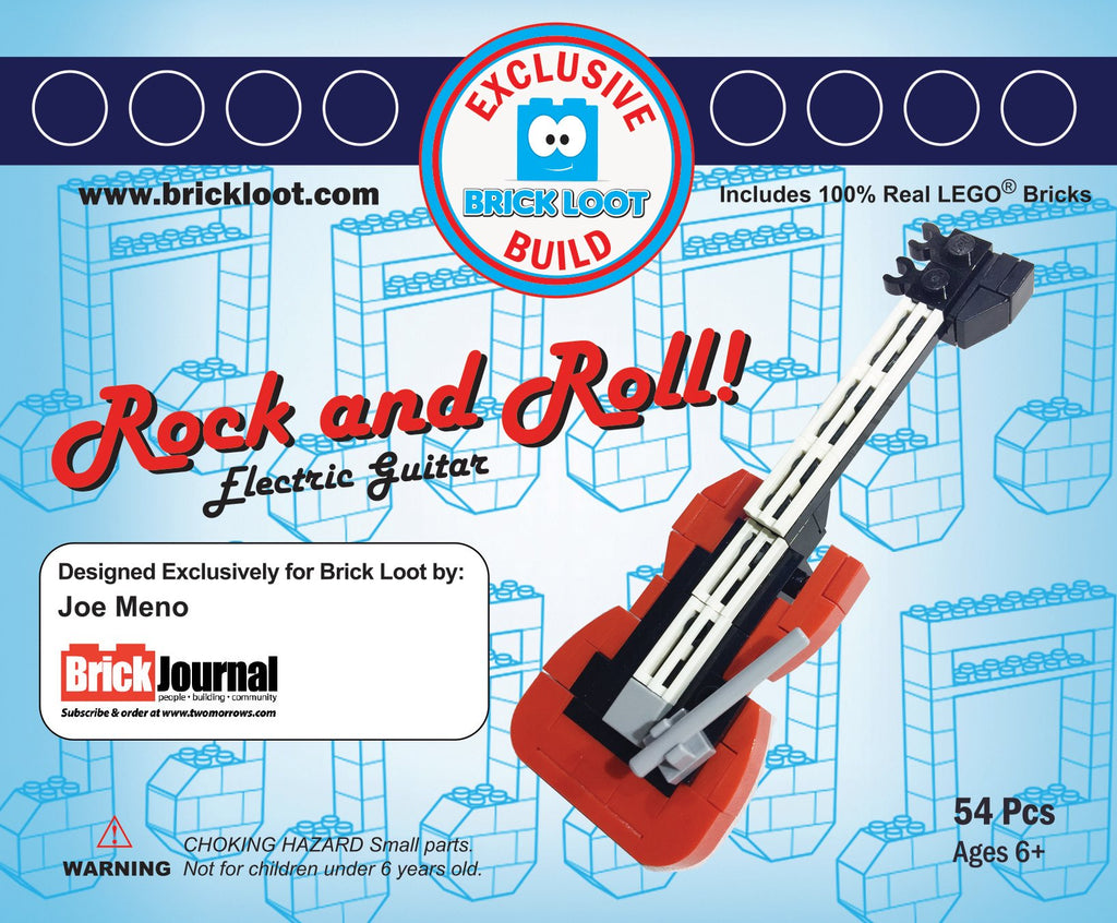 Exclusive-Brick-Loot-Build-Custom-LEGO-Set-100%-LEGO-Bricks-Rock-&-Roll-Guitar