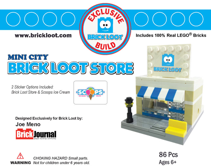 Exclusive Brick Loot Store by Joe Meno - 100% LEGO