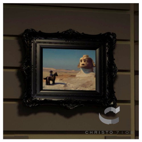 Christo Custom Fine Art Brick Painting  - Brick a Part Before The Sphinx Painting - LIMITED EDITION