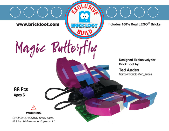 Exclusive Brick Loot Magic Butterfly by Ted Andes - 100% LEGO