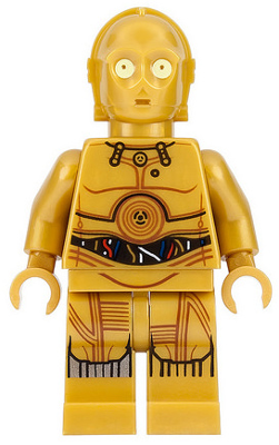 LEGO® Minifigure Star Wars Episode 4/5/6: C-3PO, sold by Brick Loot.