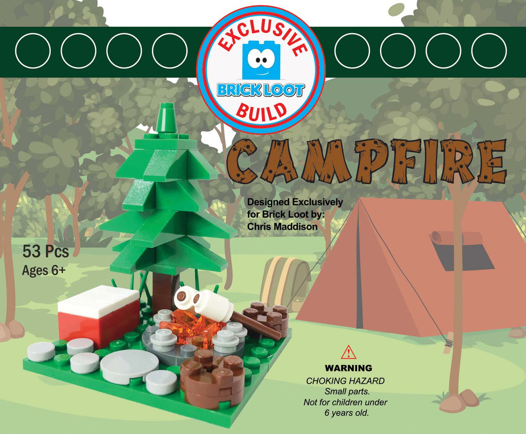 Exclusive Brick Loot Build Campfire by Chris Maddison - 100% LEGO Bricks