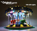 LEGO Carousel set 10257 with the Brick Loot LED kit installed.