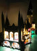 Side view of the LEGO Harry Potter Hogwarts Castle set 71043 with the Brick Loot LED Light Kit installed.