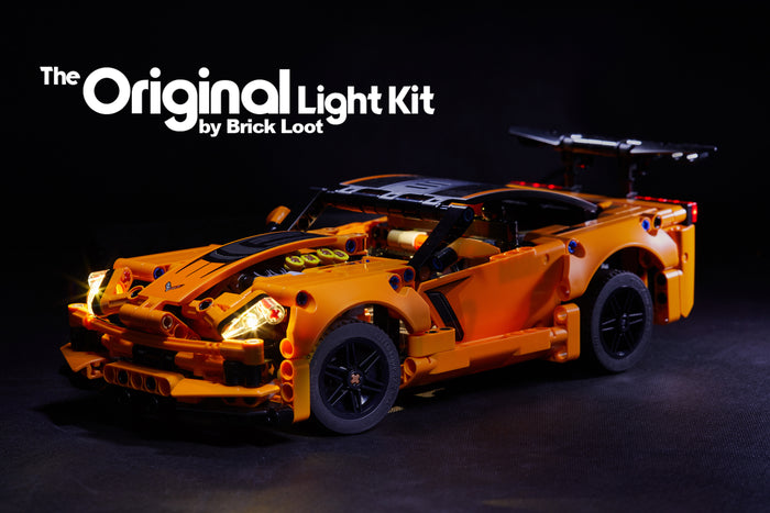 LED Lighting Kit for LEGO Technic Chevrolet Corvette ZR1 set 42093