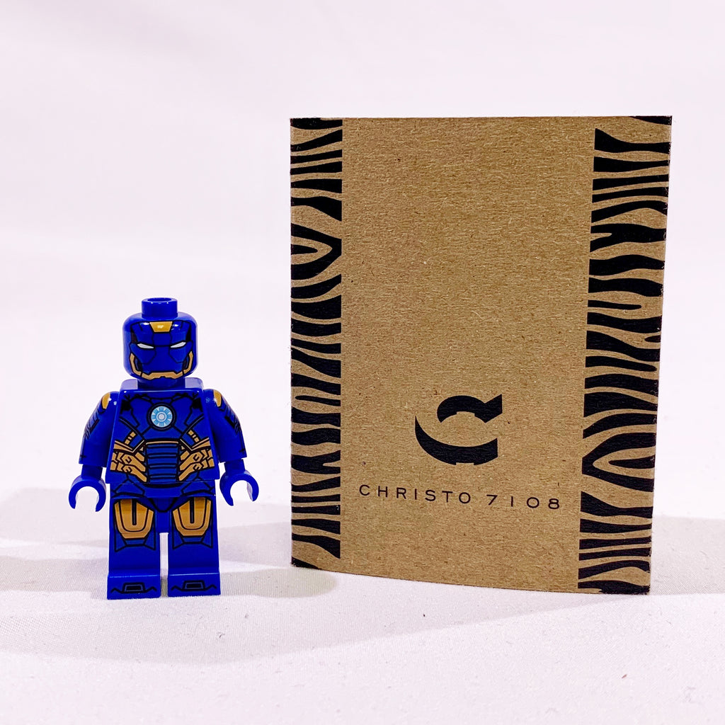 Christo Custom Pad Printed Iron Man mark 27 Disco Suit LEGO Minifigure - LIMITED EDITION