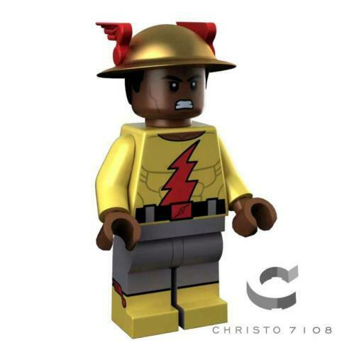 Christo Custom Pad Printed Golden Age Reverse Flash LEGO Minifigure - LIMITED EDITION