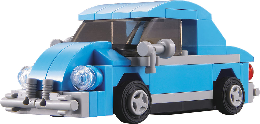 Brick Loot City Cruiser Boxed Set 100% LEGO® Compatible Bricks VW Volkswagen Beetle Pull Back Car