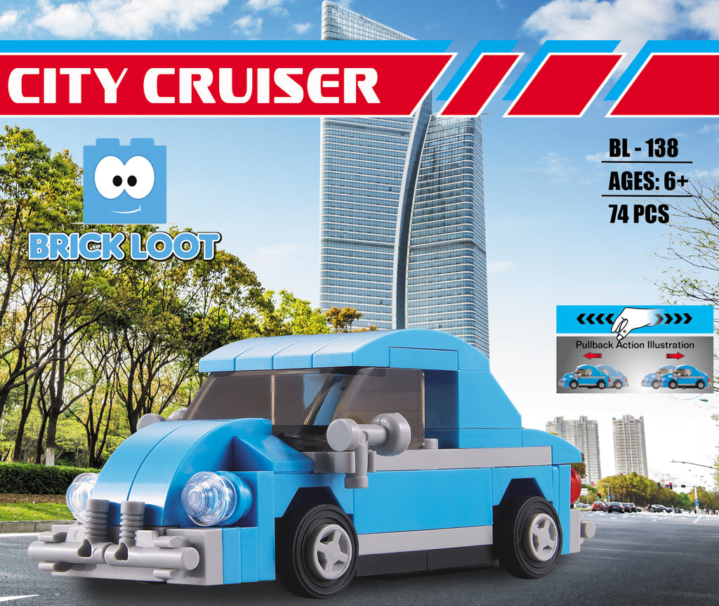 Brick-Loot-City-Cruiser-100%-LEGO-Compatible-Bricks