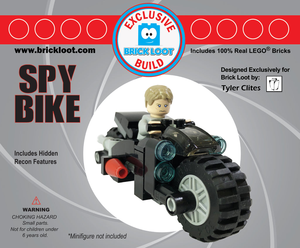Exclusive-Brick-Loot-Build-Spy-Bike-100%-LEGO-Bricks-minifigure-not-included