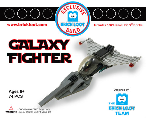 Exclusive Brick Loot Galaxy Fighter - 100% LEGO
