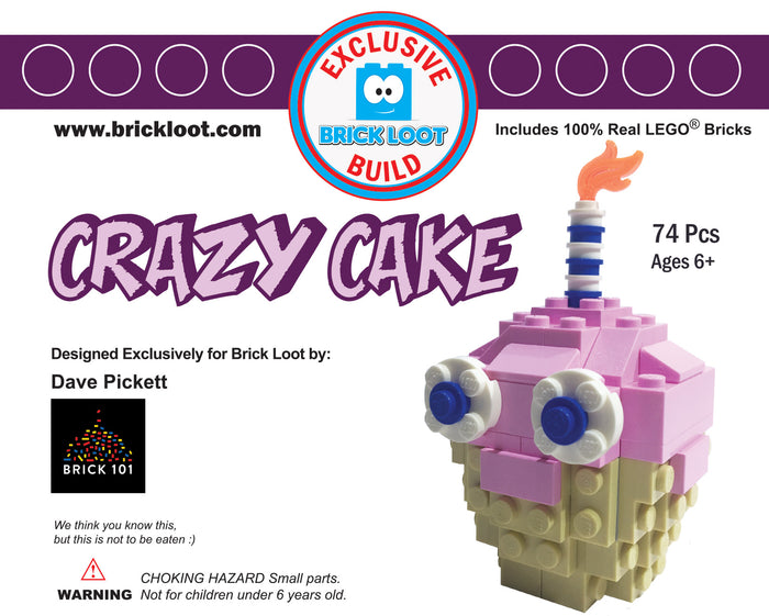 Exclusive Brick Loot Crazy Cake by Dave Pickett - 100% LEGO