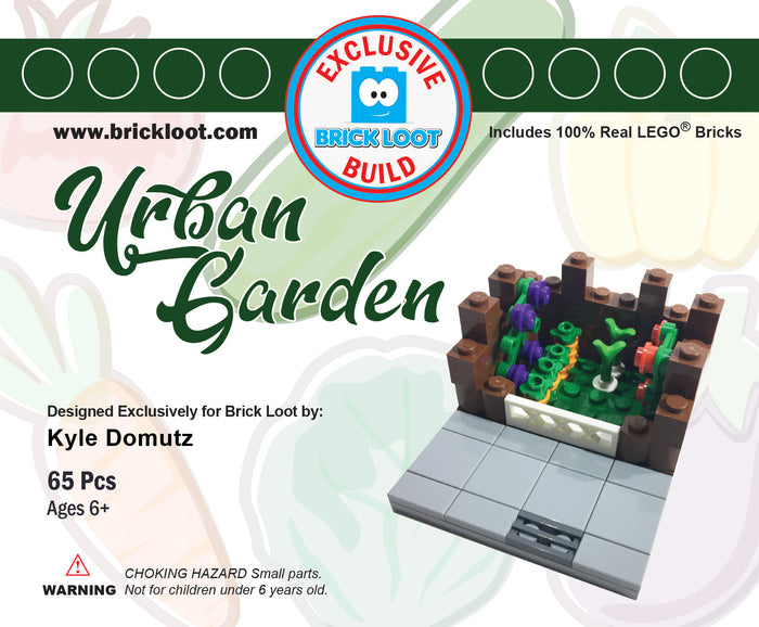 Exclusive Brick Loot Urban Garden by Kyle Domutz - 100% LEGO