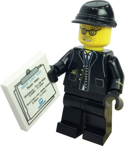 Brick Loot Exclusive The Conductor Custom LEGO® Minifigure LIMITED EDITION