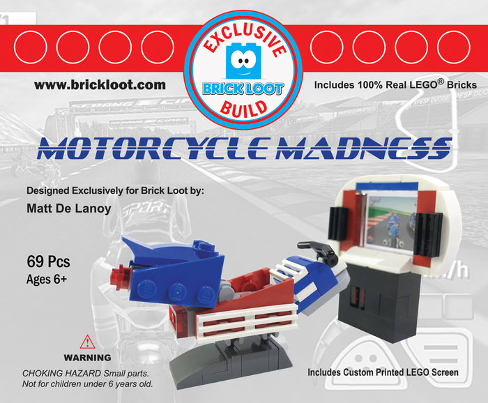 Exclusive Brick Loot Arcade by Matt DeLanoy - 100% LEGO + Custom Printed Screen