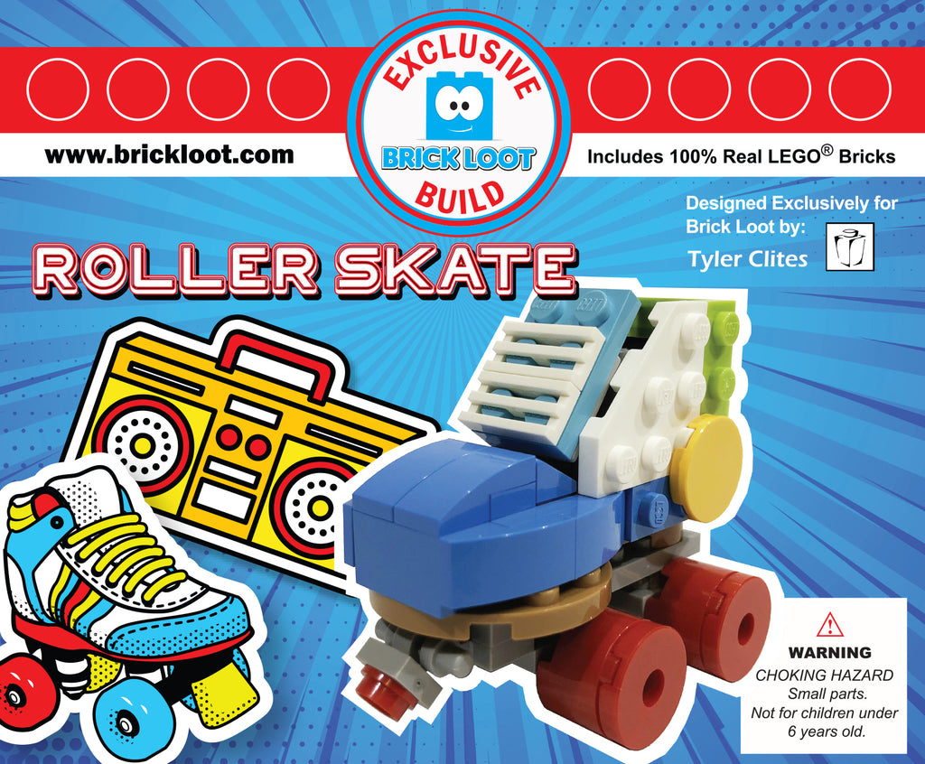 Exclusive-Brick-Loot-Build-Roller-Skate-100%-LEGO