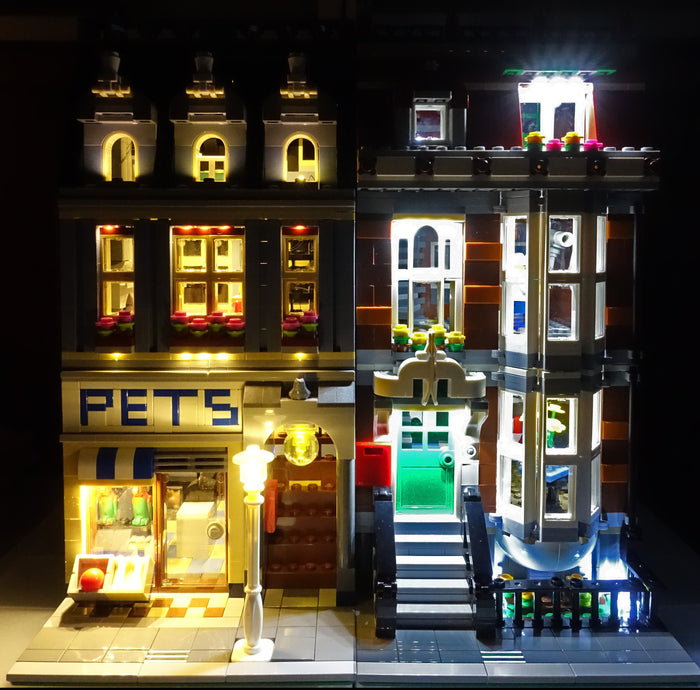 LED Lighting kit for LEGO® Pet Shop 10218