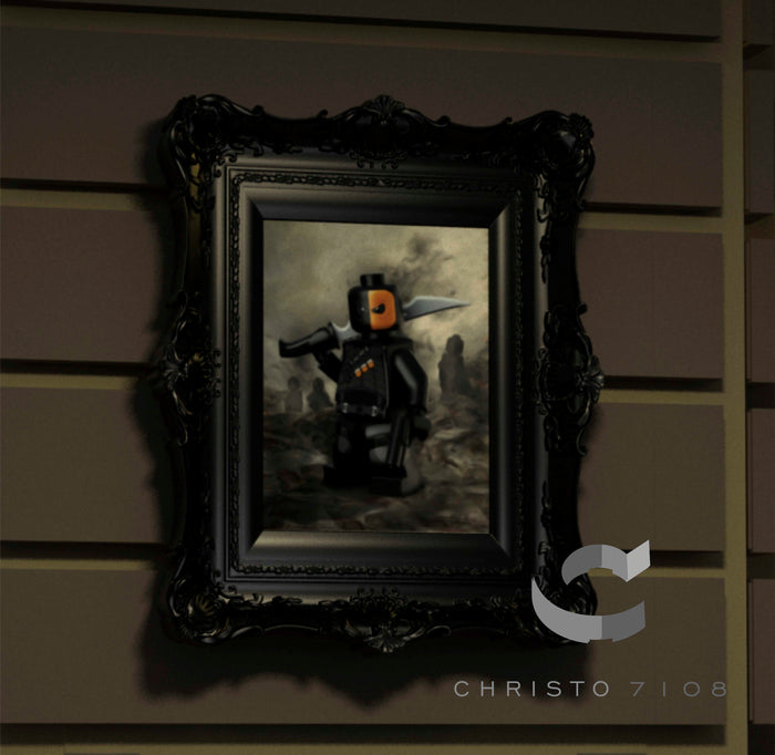Christo Custom Fine Art Brick Painting  - Deathstroke - LIMITED EDITION