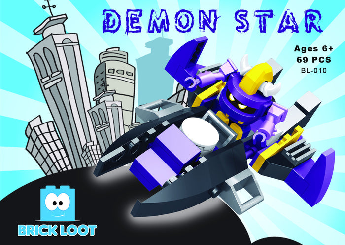 Brick-Loot-Demon-Star-purple-ship-Boxed-Set-100%-LEGO®-Compatible-Bricks