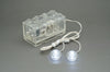 LED Double Clear LEGO Studs with 2x4 Battery Brick