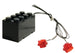 Brick Loot LED Light Kit for LEGO Sets - Double Red Blinking LEGO Studs with Black 2x4 Battery Brick (Batteries included).
